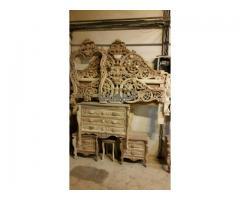 سرویس خواب چوبی منبت