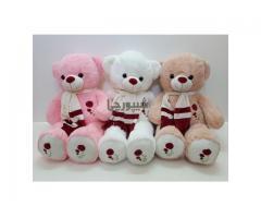 عروسک خرس پولیشی سینه گلی